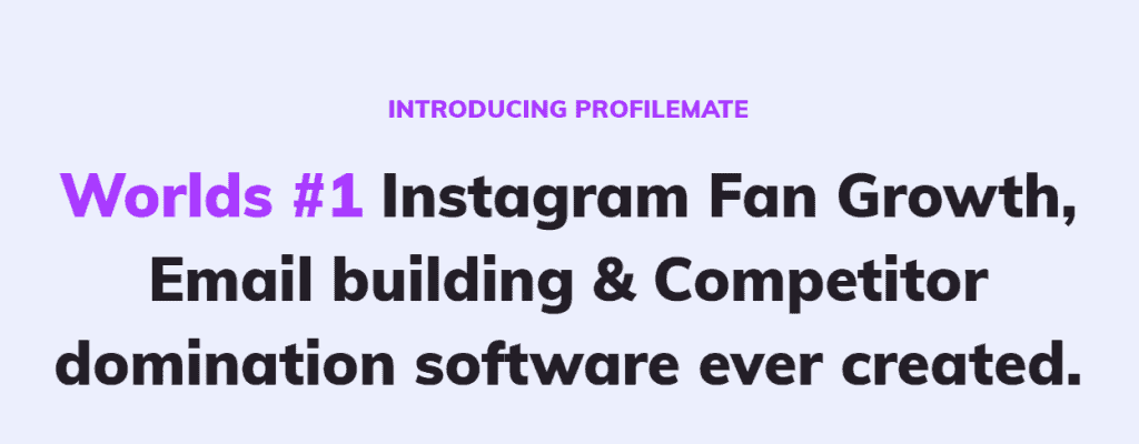 No.1 Instagram Growth Tool