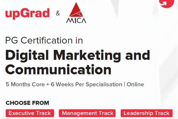 Upgrad's Digital Marketing Course For Professionals