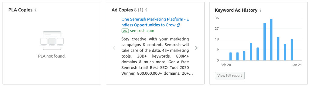 Keyword Overview- Ad Copies